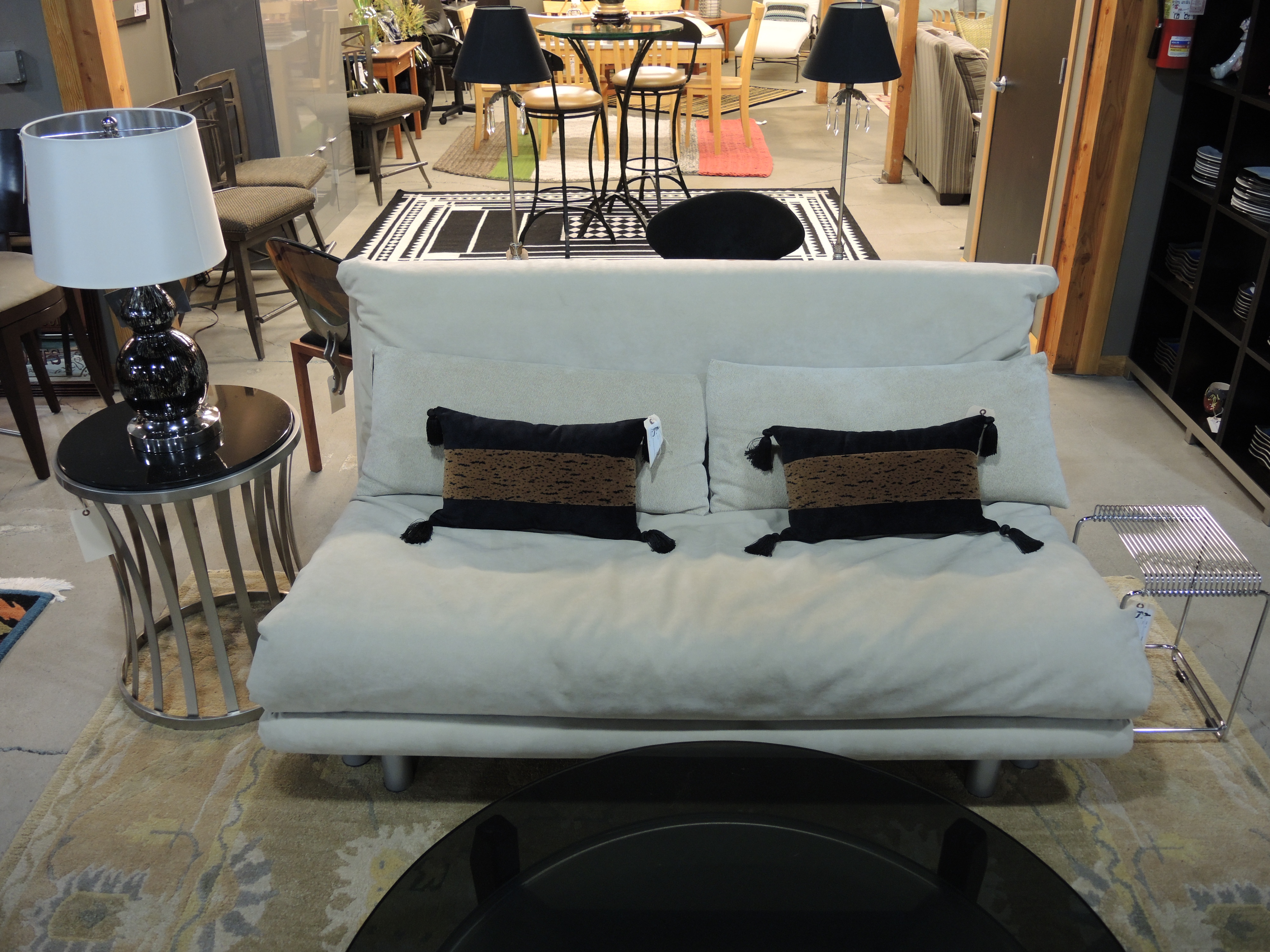 consignment sofa seams to fit home. Black Bedroom Furniture Sets. Home Design Ideas