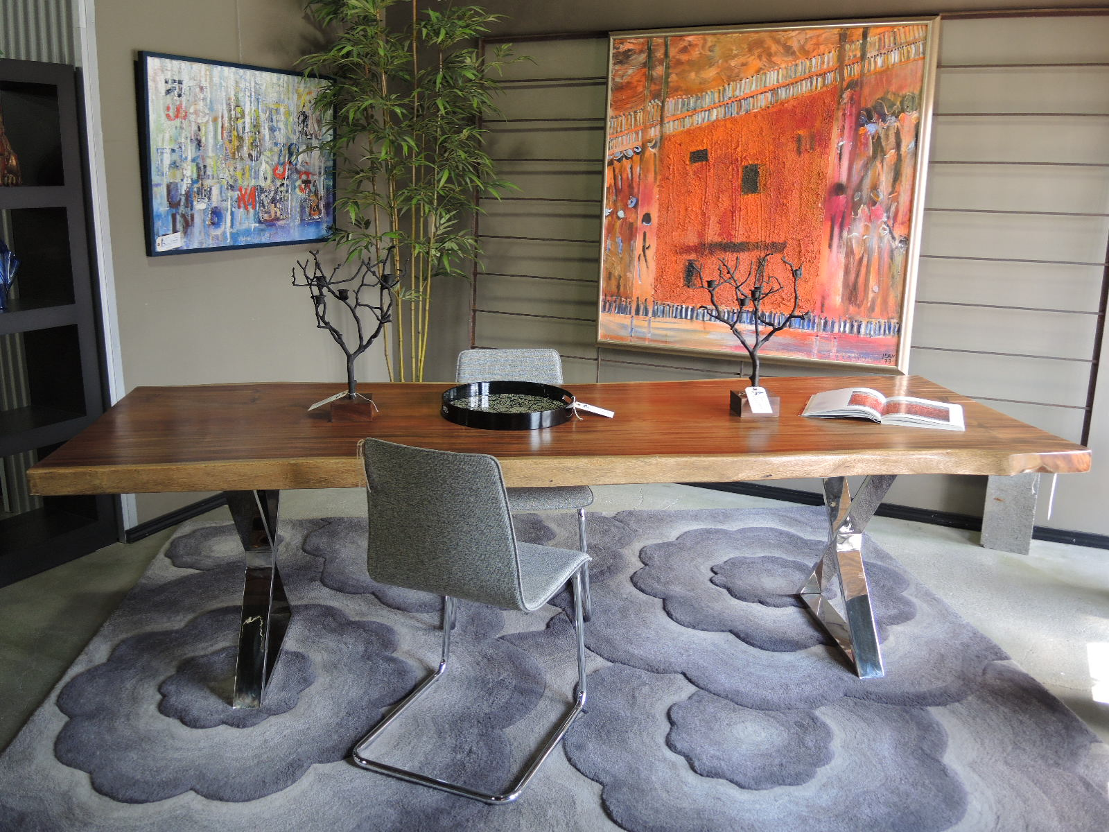 Live Edge Seams To Fit Home - West elm slab dining table