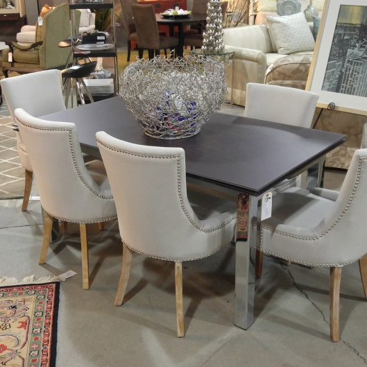 With An Easily Manipulated Extension System This Table Can Work Well In Both A Dining