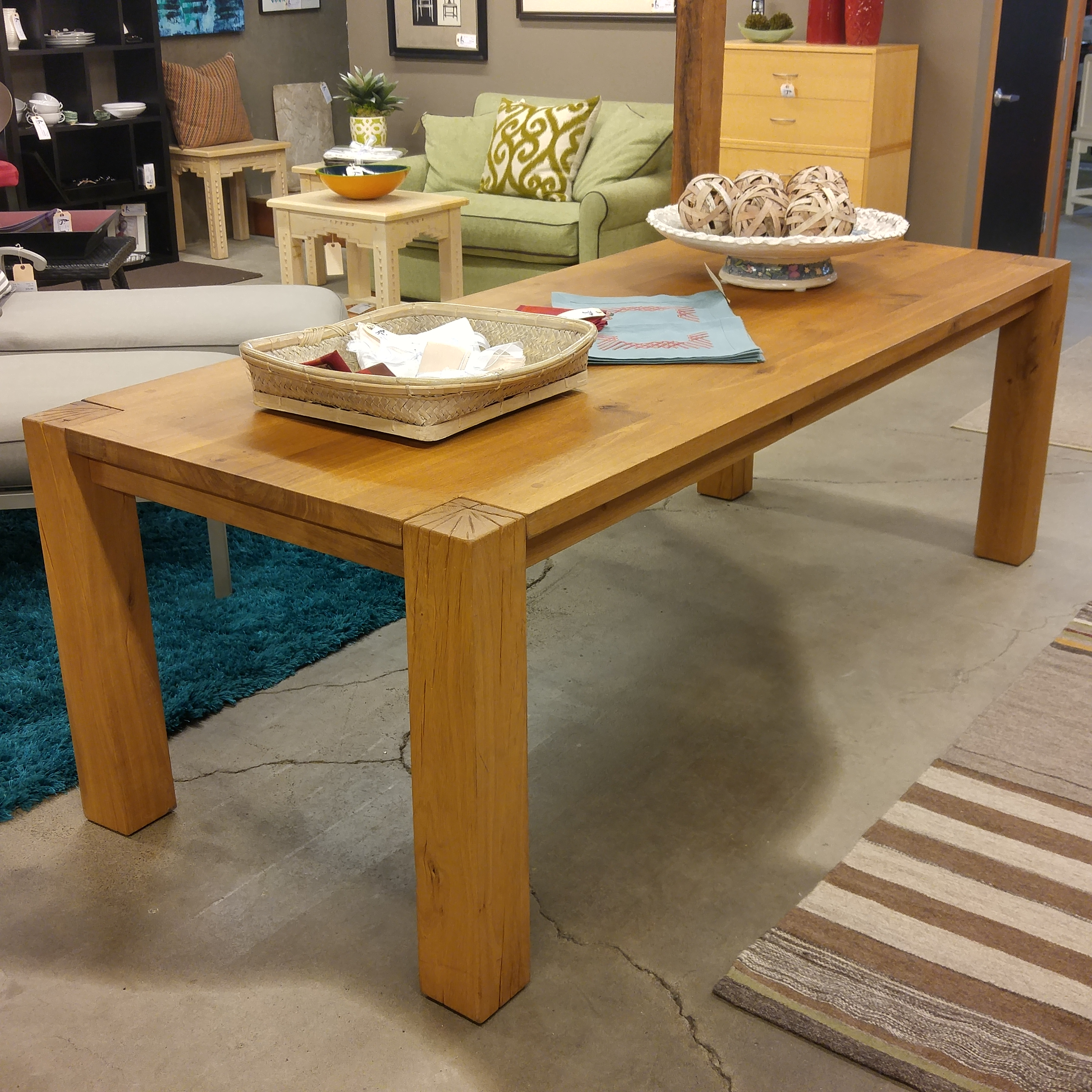 Currently Offered At Crate And Barrel For $1799, We Have This Gorgeously  Rustic 90.5u2033 Big Sur Table Made From Solid European White Oak.