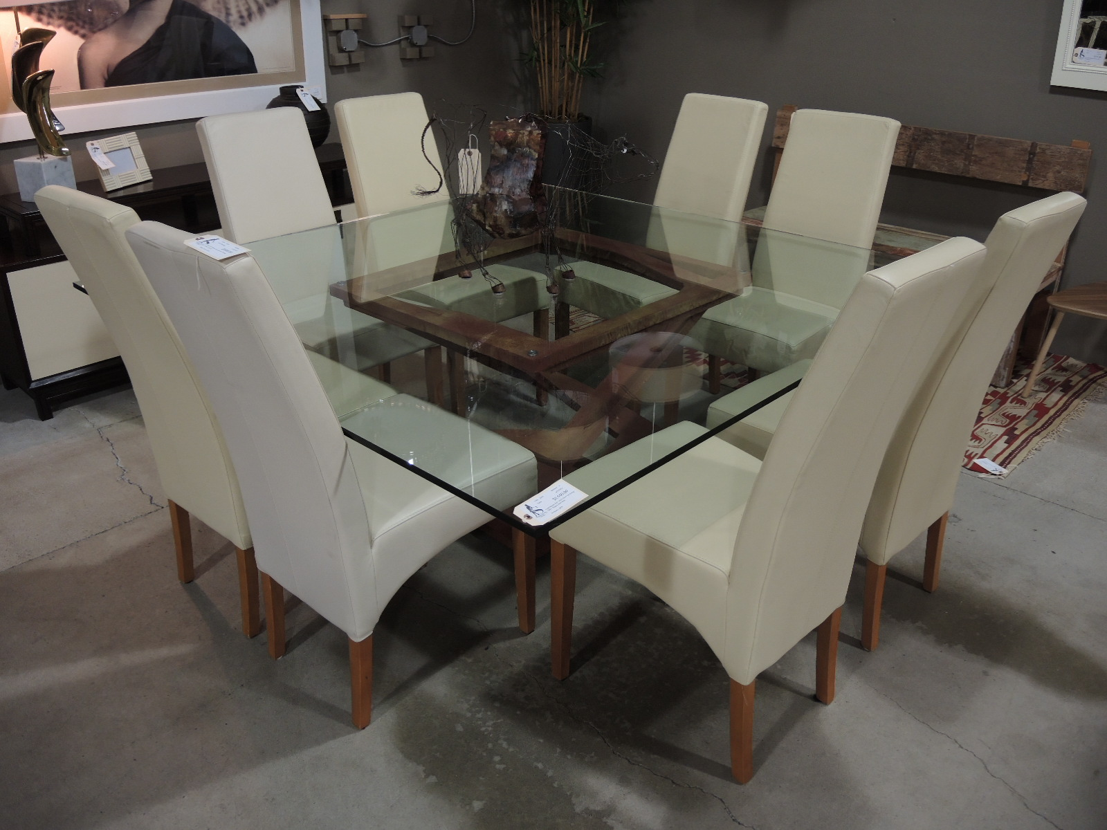 Modern Square Glass Dining Table Elegant Find This Pin